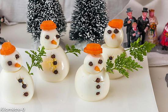 recette Oeufs bonhomme de neige