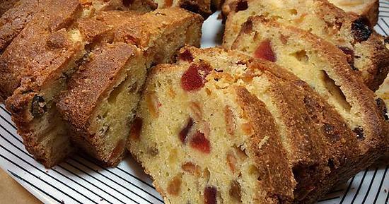 recette CAKE ROYAL AUX FRUITS CONFITS, MA RECETTE TRADITIONNELLE