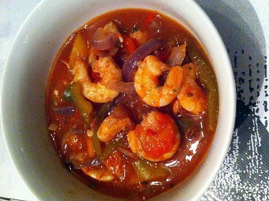 recette de soupe la tomate crevettes et poivrons. Black Bedroom Furniture Sets. Home Design Ideas