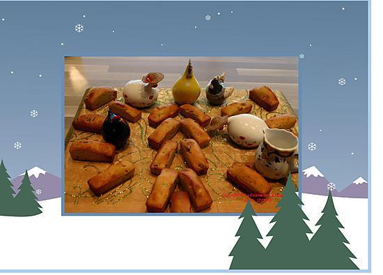recette Mini Cakes pour le petit déjeuner de Noël