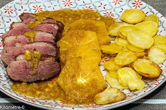 Recette de magret de canard l 39 orange et au gingembre - Cuisiner le magret de canard au four ...