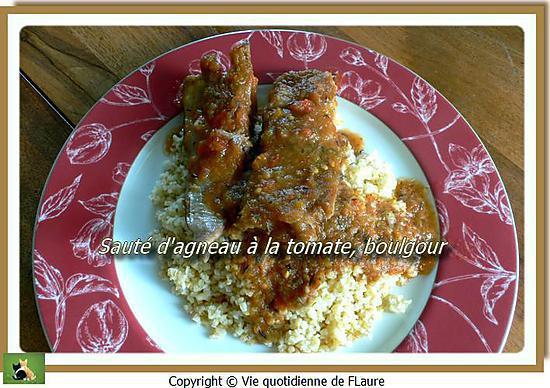 recette Sauté d'agneau à la tomate, boulgour