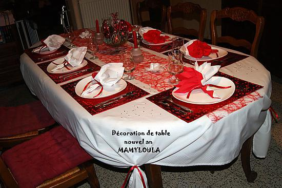 recette de d co de table th me rouge et blanc. Black Bedroom Furniture Sets. Home Design Ideas