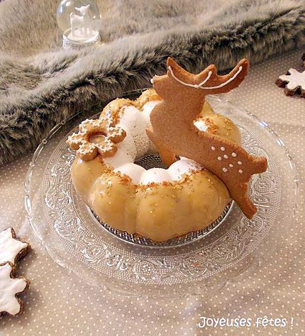 recette Entremet renne poire caramel
