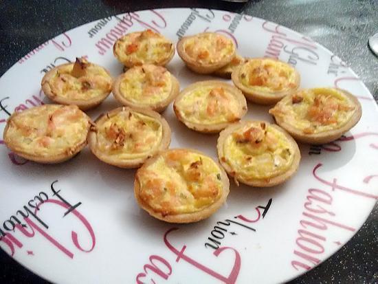 recette Minis tartelettes saumon crevettes