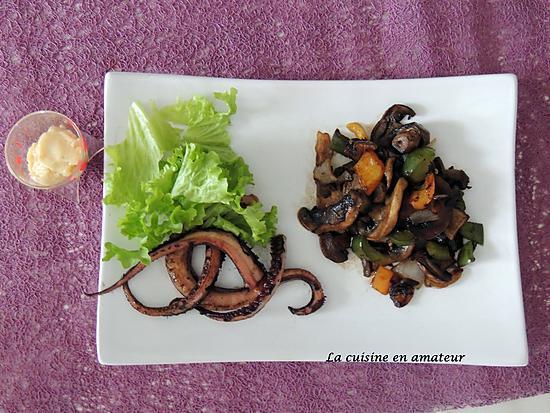 recette Poulpes aux petits légumes et sauce aïoli allégée