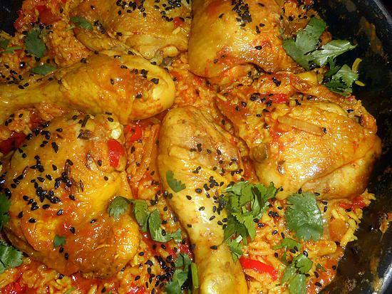 recette Poulet au riz épicé