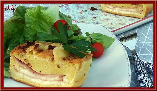 recette Cake au fromage de Raclette et Bacon