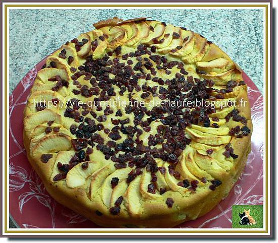recette Gâteaux moelleux à la pomme et aux pépites de cranberries