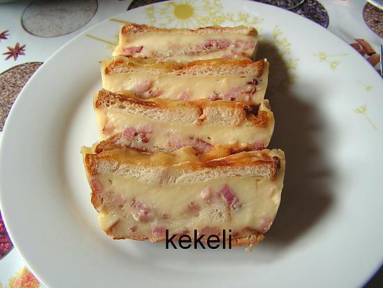 recette Croque cake lardons raclette