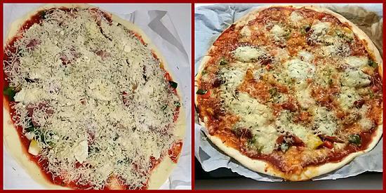 recette Pizza jambon de bayonne / chèvre
