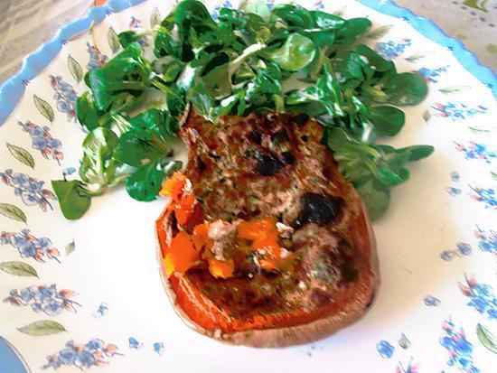 recette courge butternut farcie au chévre du blog  gastronoome