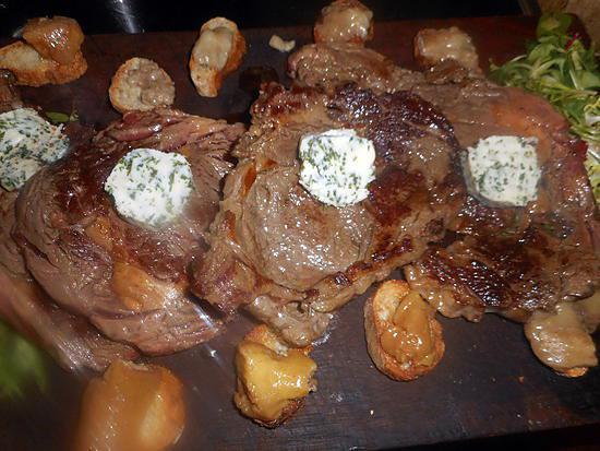 recette Entrecote beurre maitre d hotel et croutons a la moelle