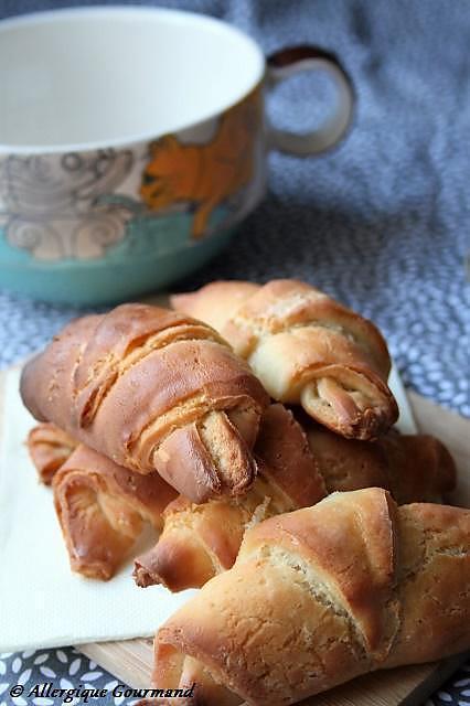 recette Croissants Bio, sans gluten, oeufs......