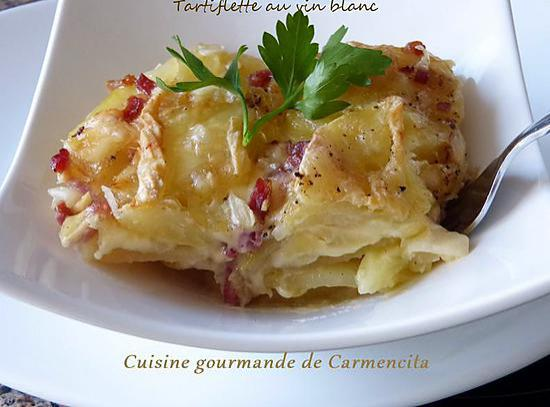 recette de tartiflette au vin blanc par carmen. Black Bedroom Furniture Sets. Home Design Ideas