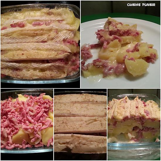 recette de pdt lardons fum s gratin s au camembert fromage pour raclette par cuisineplaisir. Black Bedroom Furniture Sets. Home Design Ideas