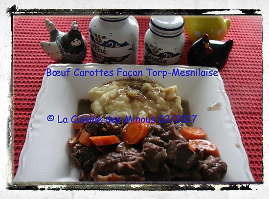 recette Bœuf Carotte Façon Torp-Menilaise