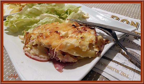 recette de g teau de pommes de terre au bacon. Black Bedroom Furniture Sets. Home Design Ideas