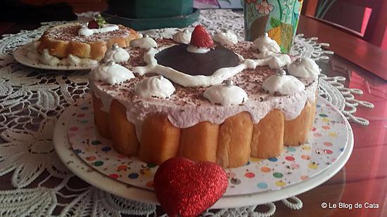 recette Charlotte aux fraises pour la St Valentin