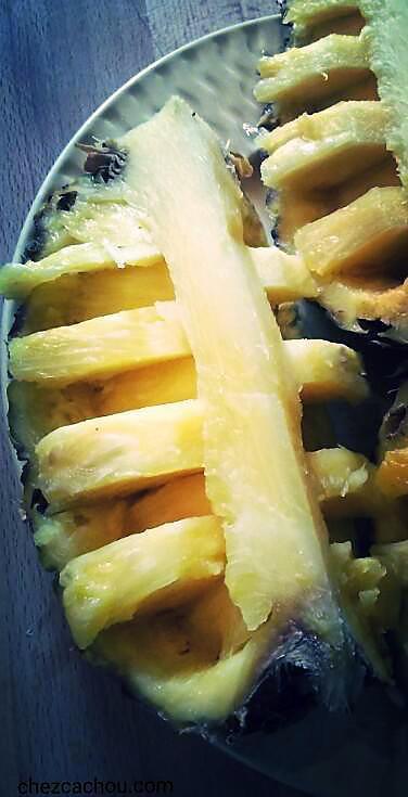 recette Ananas en pirogue