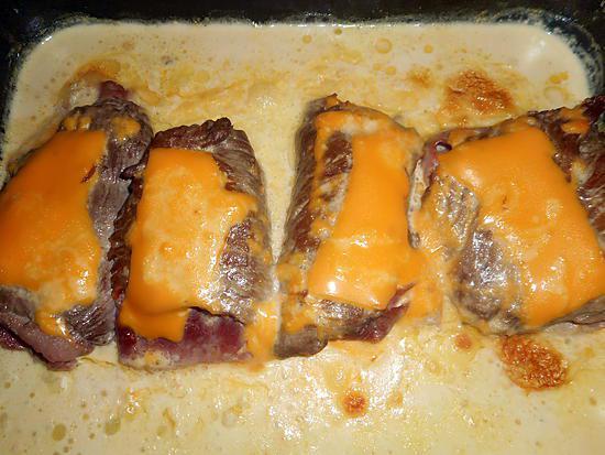 recette Escalope de veau,jambon et cheddar