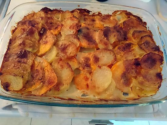 recette de gratin de pomme de terre et patate douce. Black Bedroom Furniture Sets. Home Design Ideas