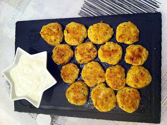 recette Nuggets de poulet à l'indienne et sauce yaourt