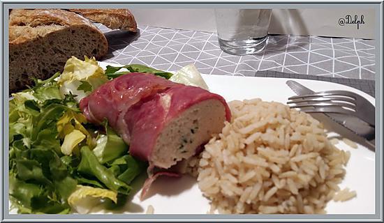 recette Mousse de Poulet Bardée de jambon de Bayonne