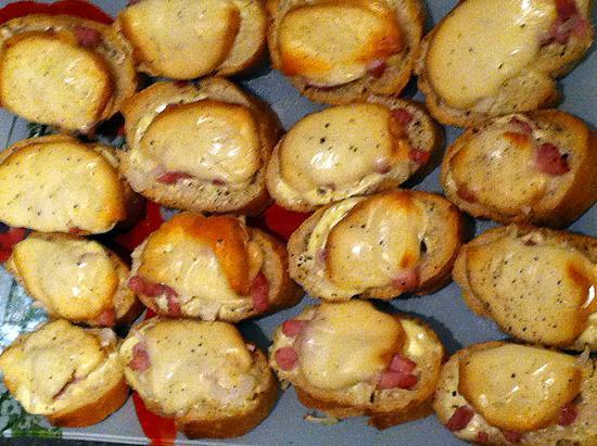 recette Croutons gratinés à la scamorza fumé