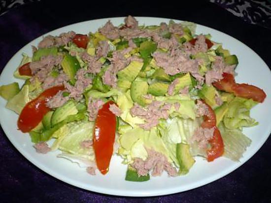 recette Salade composée thon/avocats
