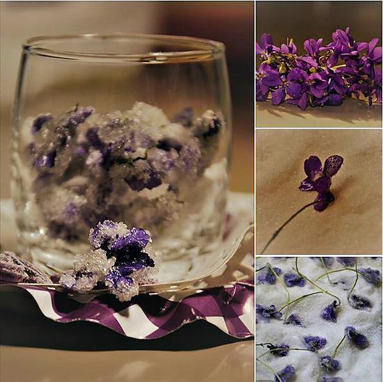 recette Violettes du jardin cristallisées au deshydrateur