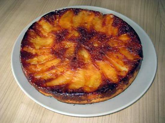 recette Quatre,quarts aux pommes caramélisées, un délice super facile !