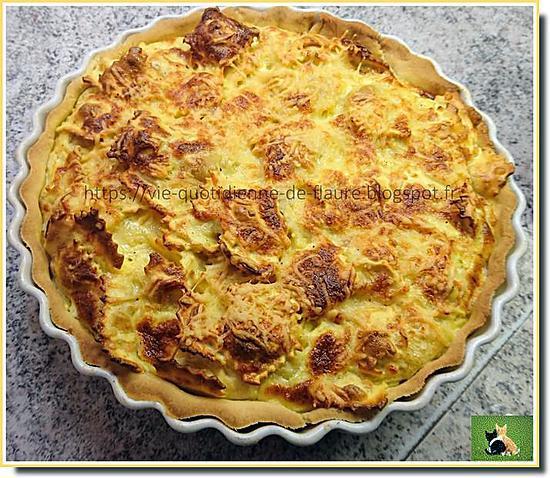 recette de quiche aux raviolinis garnis de jambon sur une p 226 te bris 233 e