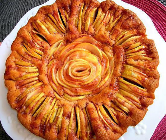 recette de tarte aux pommes revisit e avec une p te a g teau. Black Bedroom Furniture Sets. Home Design Ideas