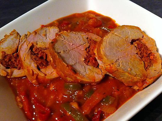 recette Filet mignon farci à l'espagnole