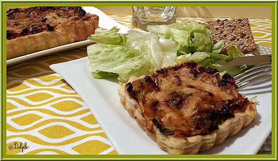 recette Tarte aux poireaux et chair de crabe