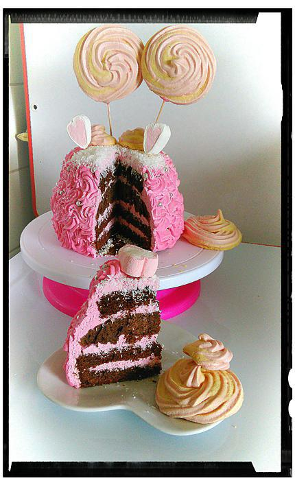 recette girly cake chococo fraise