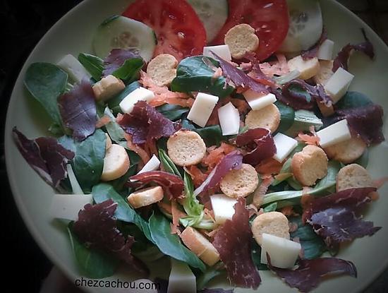Recette Land Recette De Salade Composee Au Boeuf Seche Sur Les Foodies