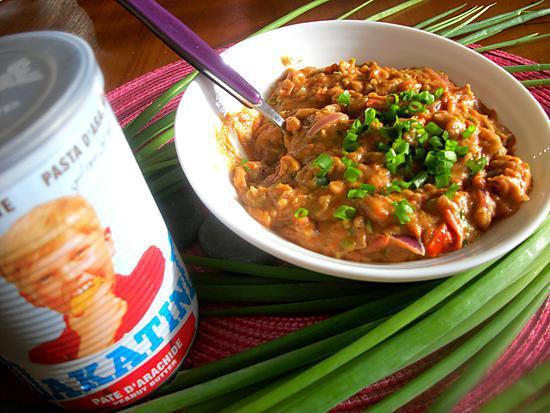 recette ROUGAIL DAKATINE (pâte d'arachide) aux MICRO-ONDES, spécialité du 974