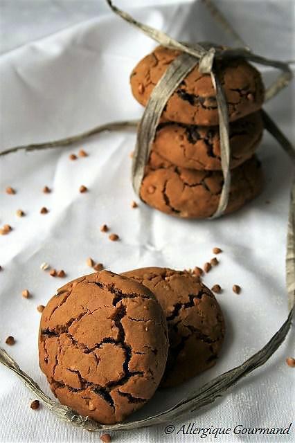 Recette de cookies aux graines de sarrasin et p pites de - Cuisinez gourmand sans gluten sans lait sans oeufs ...
