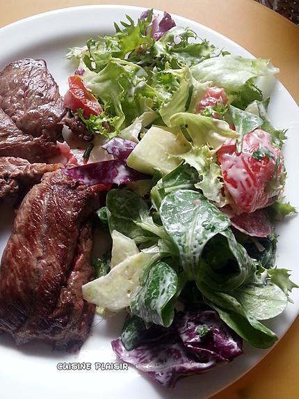recette SAUCE CAESAR /ou César, pour salade (avec bœuf, BBQ)