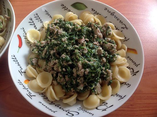 recette Orecchietes aux épinards et au haché