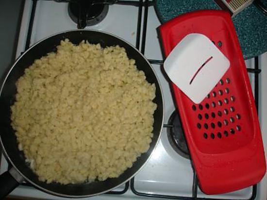 recette spätzle au parmesan