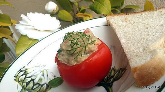recette Tomates farcies au caviar d'aubergine