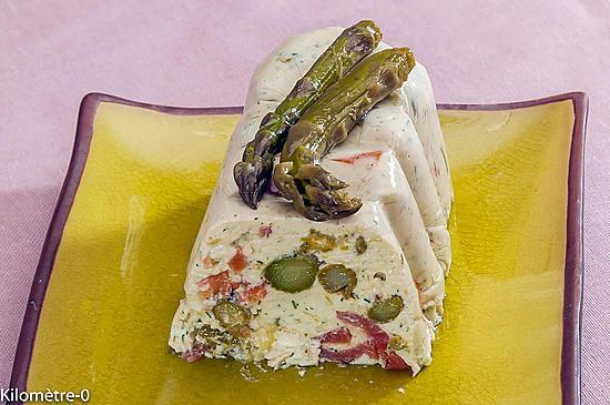 recette Terrine d'asperges vertes à la truite fumée