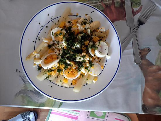 recette Asperges blanche façon mimosa