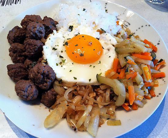 recette Bibimbap coréen au konjac (compatible dukan)