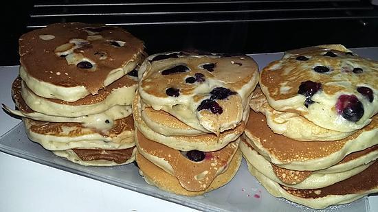 recette Pancakes a la myrtilles
