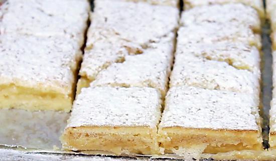 recette Carrés fondants au citron