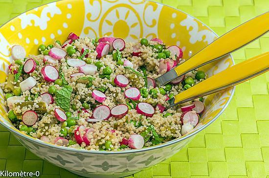 recette Semoule en salade aux asperges, radis, petits pois et menthe